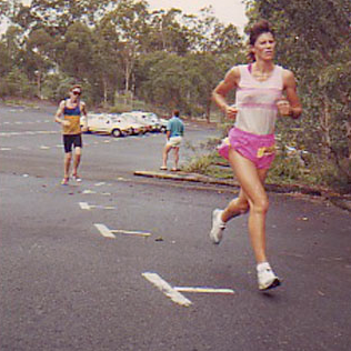 Pip in the height of her sucessful running career prior to cycling