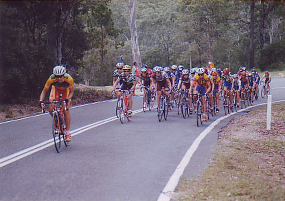 Pip breaks away at the 1999 Australian Road Nationals, Hinze Dam, Gold Coast