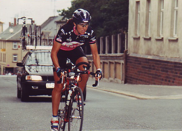 Phillipa Hendren at the Thuringen-Rundfhart (Germany), Prologue Time Trial circa. 1996